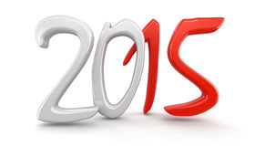 New Year 2015 (clipping path included) Stock Photo