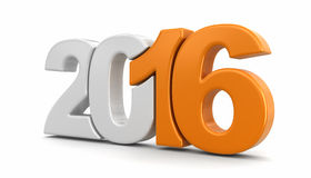 New Year 2016 (clipping path included) Royalty Free Stock Images
