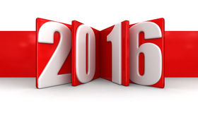 New Year 2016 (clipping path included) Royalty Free Stock Photo