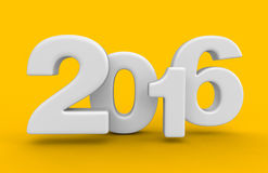New Year 2016 (clipping path included) Royalty Free Stock Photography