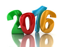 New Year 2016 (clipping path included) Stock Image