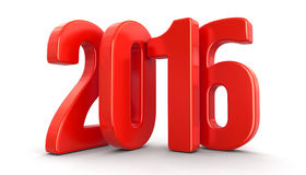New Year 2016 (clipping path included) Stock Photo