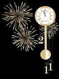 New year clock Stock Image