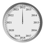 New Year Clock. On white background Royalty Free Stock Images