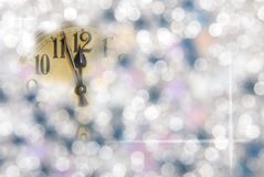 New year clock. A new year clock with unfocused background Royalty Free Stock Photos