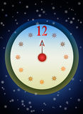 New Year Clock  Stock Photography