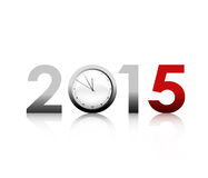New 2015 Year. New Year 2015 And Clock Royalty Free Stock Images