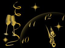 New year clock Stock Image