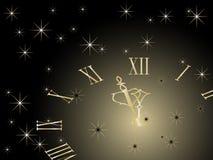 New year clock. Vector illustration stock illustration