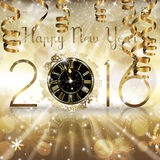New Year Clock. An abstract illustration on the New Year concept Stock Images