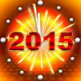 New Year clock 2015 Royalty Free Stock Photography