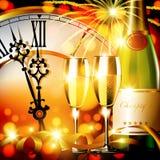 New year clock Royalty Free Stock Photos
