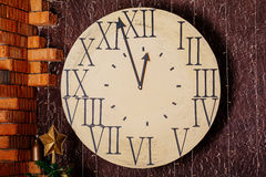 New year clock. Royalty Free Stock Photography