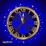New Year clock. Classic. Chiming clock Stock Photos