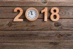 New year clock counting down. New year working Royalty Free Stock Photography