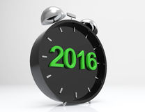 2016 New Year clock. 3d concept design Royalty Free Illustration