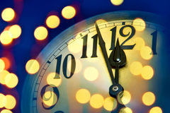 New year clock Stock Images