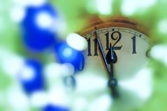 New Year Clock Face Before Midnight. Detail of New Year Clock Face Before Midnight Stock Image