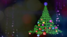 New Year Clock and Fireworks, New Year. Christmas tree royalty free illustration