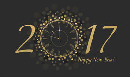 New Year Clock 2017 Royalty Free Stock Images