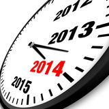 2014 New Year clock. Illustration Stock Photography
