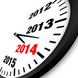 2014 New Year clock. Illustration Stock Image