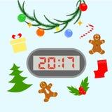 New year clock Stock Photos