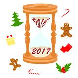 New year and clock Stock Image