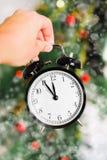 New year clock Royalty Free Stock Photo