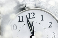 New Year Clock. Moments before midnight Royalty Free Stock Photos