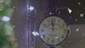 New Year clock moments two minutes before midnight.  stock video footage
