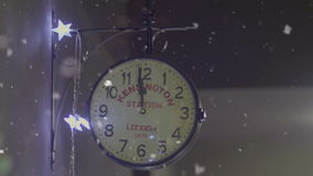 New Year clock moments two minutes before midnight.  stock footage