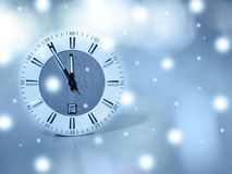 New Year clock Royalty Free Stock Photography