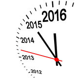 New year 2016 clock. Three dimensional clock showing New Year 2016 at 12 o'clock Stock Photo