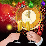 New Year clock Royalty Free Stock Images