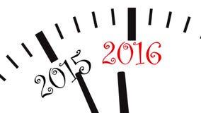 New Year clock. UltraHD video of New Year clock stock illustration