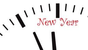 New Year clock. UltraHD video of New Year clock vector illustration