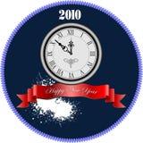 New Year clock. Vector illustration Stock Photo
