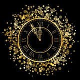 New Year Clock. Vector shiny New Year Clock Royalty Free Stock Photos