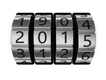 New year code. 3d illustration of 2015 code lock, new year concept Royalty Free Stock Image