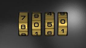 New Year 2012 code lock Stock Image
