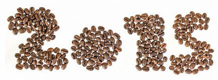 New 2015 year from coffee beans Stock Image
