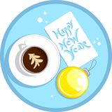 New year coffee cup Stock Image