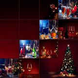 New year collage. Merry christmas and new year theme collage composed of different images Royalty Free Stock Photography