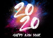 2020 New Year Color Explosion stock photography