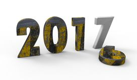 New year 2017. Color with white background Stock Image