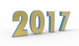 New year 2017. Color with white background Stock Images