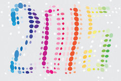 New Year of 2015 Colored. Black and white dotted illustration for the celebration of the upcoming 2015 year Royalty Free Stock Photo