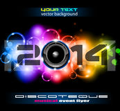 2014 New Year Colorful Background. For your  Party invitations Royalty Free Stock Photo