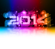 2014 New Year Colorful Background. For your  Party invitations Royalty Free Stock Images